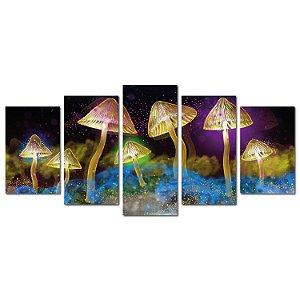 Cogumelos de Luz (Mosaico 5 peças)