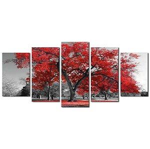 Árvore da Vida - Vermelha (Mosaico 5 peças)