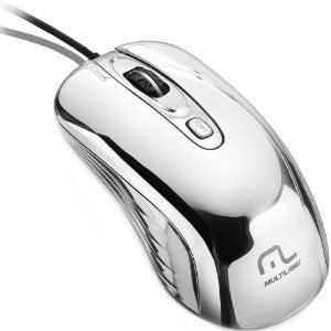 Mouse Com Led USB Prateado Multilaser - MO228