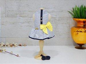 Coleira Vestido com Laço e Guia Colorful Amarelo - Pata Chic