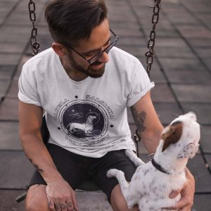 Camiseta Cachorro Salsichinha Astronauta