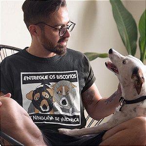 Camiseta Vira Lata Caramelo Entregue os Biscoitos
