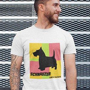 Camiseta Cachorro Schnauzer