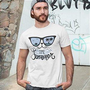 Camiseta Gato Tempo de Verão