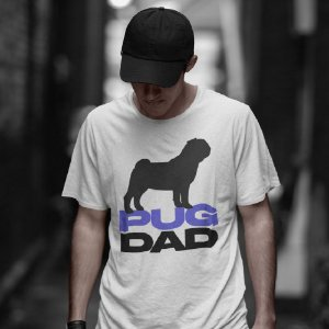 Camiseta Pug Dad
