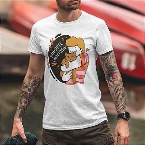 Camiseta Gato Suporte Emocional