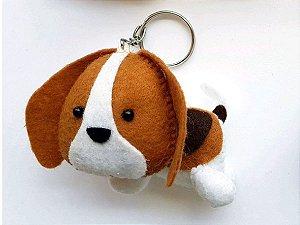 Chaveiro Beagle em Feltro