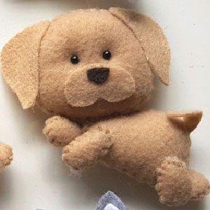 Chaveiro Labrador em Feltro