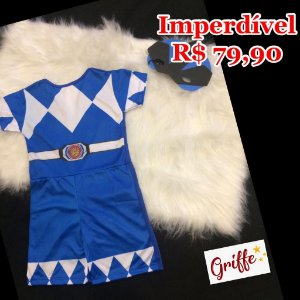 Macacão Fantasia Power Rangers Azul