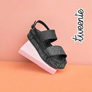 Sandália  com Glitter
