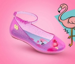 Sapatilha Flamingo Baby Charmosinha Chic
