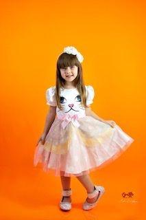 Vestido de Tule Gatinho Luluzinha