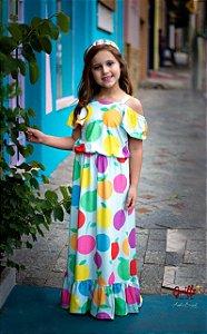 Vestido Longo Frutas MyLu