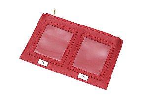 Porta Passaporte grande vermelho