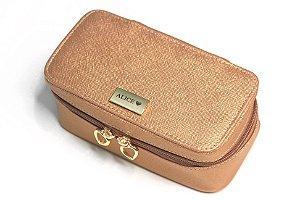 Necessaire Leticia P rosê gold personalizada