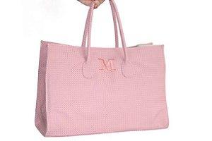 Bolsa modelo Fádia rosê personalizada