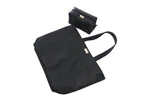 Bolsa Priscila personalizada + Necessaire croco preta personalizada