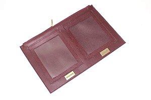 Porta passaporte grande marsala personalizado