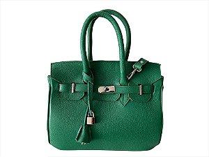 Bolsa Bárbara verde bandeira ferragens prata personalizada