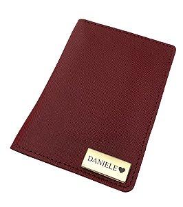 Porta passaporte individual vinho
