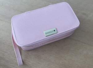 Porta maquiagens rosa blush