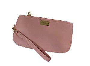 Bolsinha rosa blush personalizada
