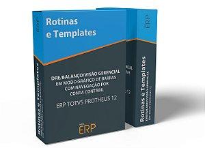 DRE/Balanço/Visão Gerencial em modo gráfico de barras com navegação por conta contábil | ERP TOTVS Protheus 12