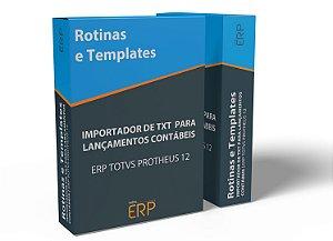 Importador de TXT para Lançamentos contábeis | ERP TOTVS PROTHEUS 12