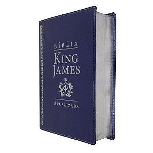 Bíblia De Estudo King James Atualizada Grande Azul