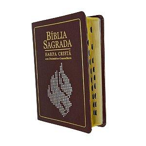 Bíblia Sagrada Com Dicionário e Concordância - Luxo Marrom