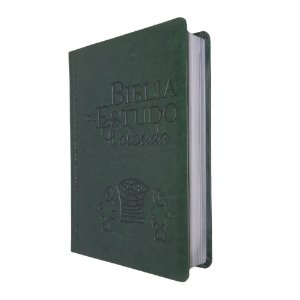Bíblia De Estudo Colorida Capa Luxo Verde - Bv Books