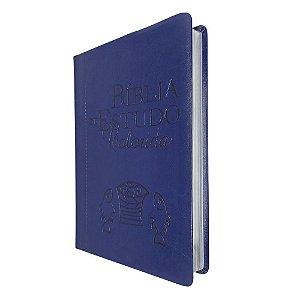 Bíblia De Estudo Colorida Capa Luxo Azul - Bv Books