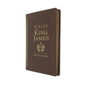 Bíblia King James Atualizada Slim Capa Luxo Marrom - Art Gospel