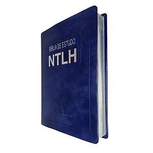 Bíblia De Estudo NTLH Grande Capa Luxo Azul - Sbb