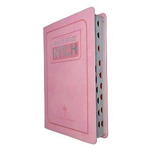 Bíblia de Estudo NTLH Média Capa Luxo Rosa Com Índice - SBB