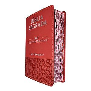 Bíblia Sagrada NVI Letra Hipergigante Luxo Vermelha - CPP