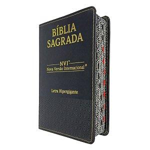 Bíblia Sagrada NVI Letra Hipergigante Luxo Preta - CPP