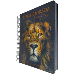 Bíblia Espiral Anote Plus RC - Leão de Judá - Geográfica