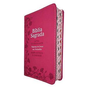 Bíblia Sagrada RC Letra Ultragigante Harpa - Pink - Cpp