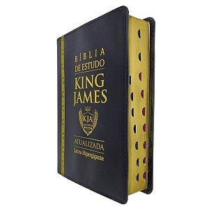 Bíblia de Estudo King James Atualizada Preta com Dourado