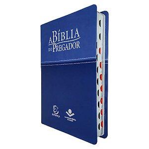 A Bíblia Do Pregador RC Média Azul Claro/Escuro - Esperança