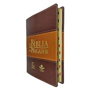 A Bíblia Do Pregador Grande Marrom Claro/Escuro - Esperança