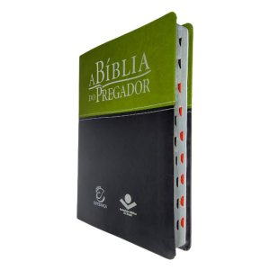 A Bíblia Do Pregador RA Grande Capa Verde Preto - Esperança