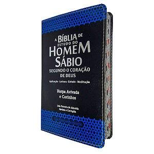 A Bíblia De Estudo Do Homem Sábio Harpa Capa Preta - Cpp