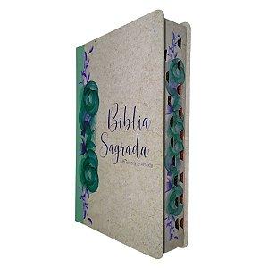 Bíblia RC Letra Gigante Com Mapas Reciclato Floral