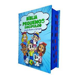 Bíblia Infantil Pequenos Discípulos Com Imagens Harpa Azul