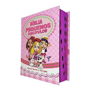 Bíblia Infantil Pequenos Discípulos Com Imagens Harpa Rosa