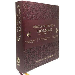 Bíblia de Estudo Holman Vinho - Cpad