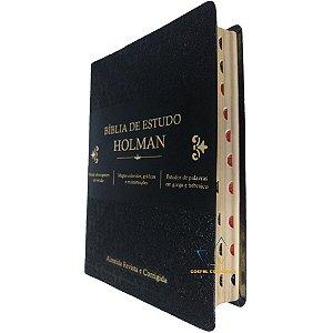 Bíblia de Estudo Holman- Grande Preta Com Índice - Cpad