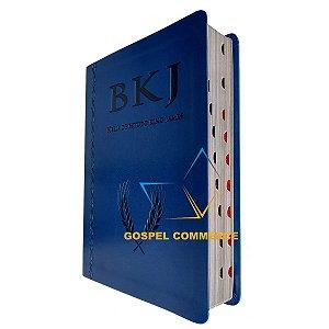 Bíblia De Estudo King James 1611 - Azul Com Índice - BV Books